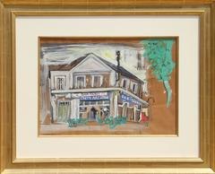 "Ludwig Bemelmans, ""The House of Van Gogh,"" Gouache on Paper, circa 1955"