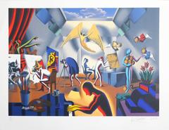 """Mark Kostabi, """"The Big Picture,"""" Lithograph, 2002"""