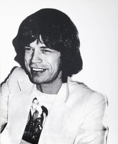 Mick Jagger from the Icons Portfolio, Screenprint, 1990 by Christopher Makos