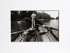 "Christopher Makos, ""Andy Warhol in Rowboat, France,"" Silver Gelatin Print, 1981"