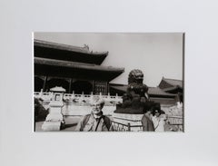 "Christopher Makos, ""Andy Warhol in China,"" Gelatin Silver Print, 1982"