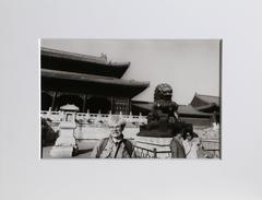"Christopher Makos, ""Andy Warhol in China,"" Gelatin Silver Print, 1982"