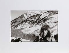 "Christopher Makos, ""Andy Warhol Snowmobiling,"" Gelatin Silver Print, 1983"