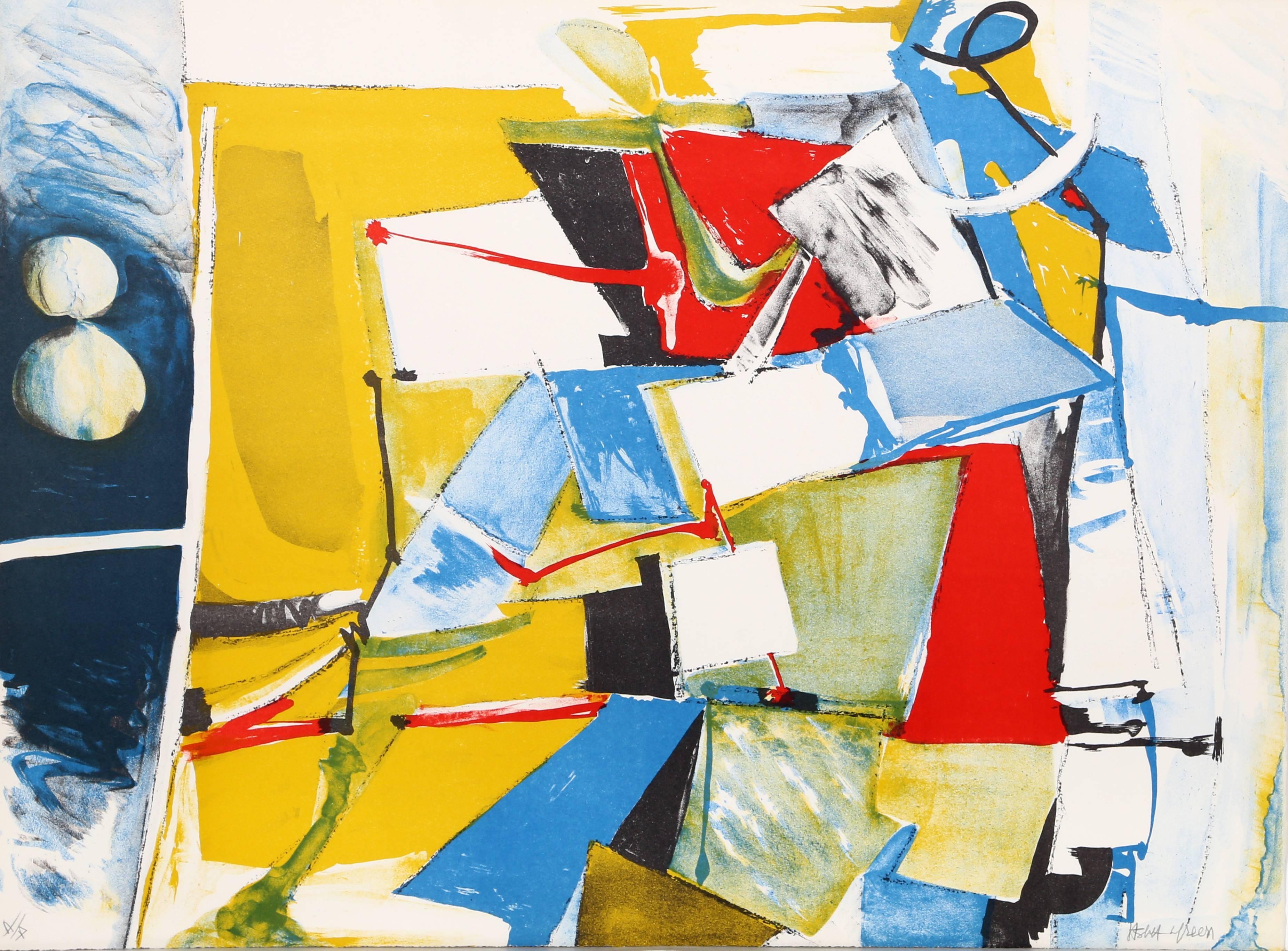 Jasha Green, Abstract 9 Lithograph, circa 1976
