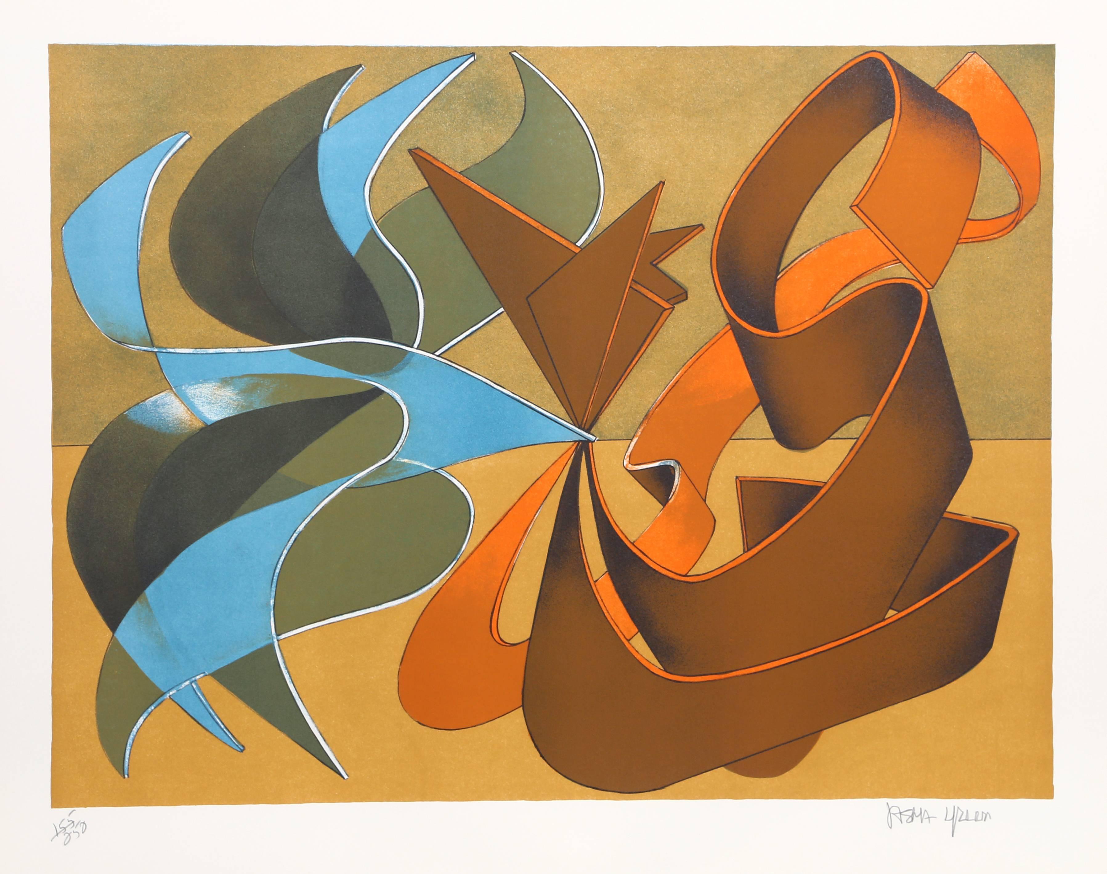 "Jasha Green, ""Abstract 15,"" Lithograph, circa 1976"
