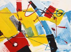 Jasha Green, Abstract Lithograph, circa 1979