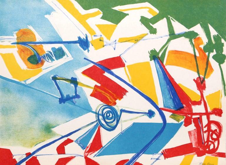 Jasha Green, Abstract Lithograph, circa 1979 - Print by Jasha Green