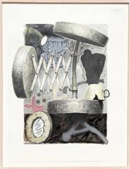 """Edward Henderson, """"Untitled 1,"""" Mixed Media Painting on Paper, 1991"""