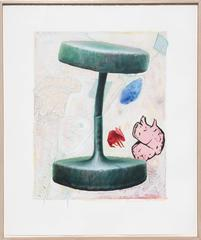 """Edward Henderson, """"Untitled 2,"""" Mixed Media Painting on Paper, 1992"""