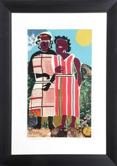 "Romare Bearden, ""Two Women,"" Serigraph, 1981-82"