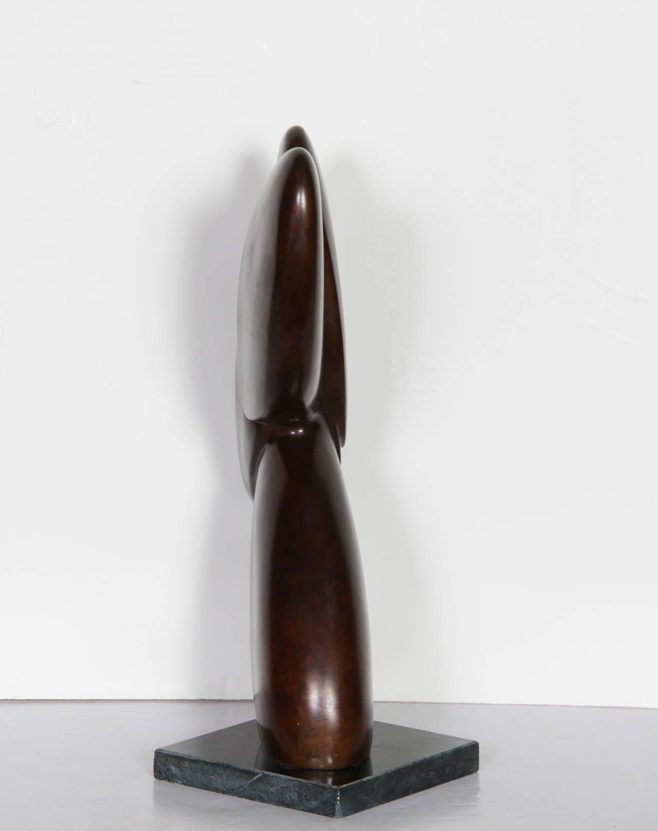 Rabbit - Abstract Sculpture by Constantin Antonovici