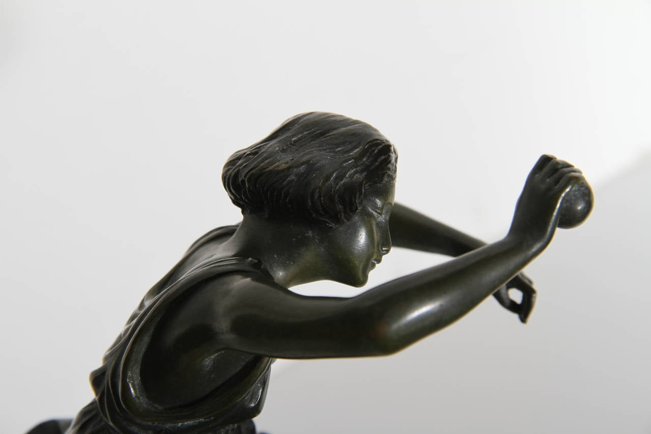 Dancing Girl with Ball, Art Deco Sculpture 1920's For Sale 3