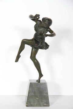 Dancing Girl with Ball, Art Deco Sculpture 1920's