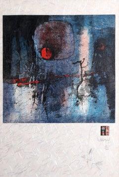 "Lebadang, ""La Lune Mystere,"" Lithograph on Handmade Paper"