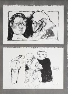 """Jose Luis Cuevas, """"El Siniestro,"""" Etching, 1968"""