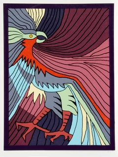 """Victor Delfin, """"Baby Condor,"""" Serigraph, 1979"""