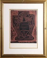 "Pablo Picasso, ""Exposition Ceramique Vallauris 1959 (Bloch 1286),"" Linocut, 1959"