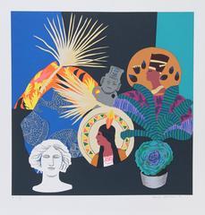 """Hunt Slonem, """"Three Goddesses and a Fallen God,"""" Serigraph, circa 1980"""