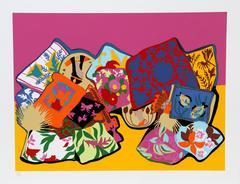 """Hunt Slonem, """"Pillow Painting,"""" Serigraph, 1980"""