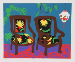 "Hunt Slonem, ""Lantern,"" Serigraph, 1980"
