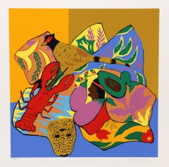 """Hunt Slonem, """"Lobster,"""" Serigraph, 1980"""