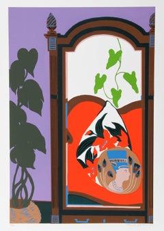 """Hunt Slonem, """"Armoire,"""" Serigraph, 1980"""