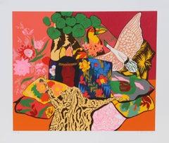 """Hunt Slonem, """"Pillow Jungle,"""" Serigraph, 1980"""
