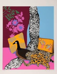 "Hunt Slonem, ""Anaconda,"" Serigraph, 1980"