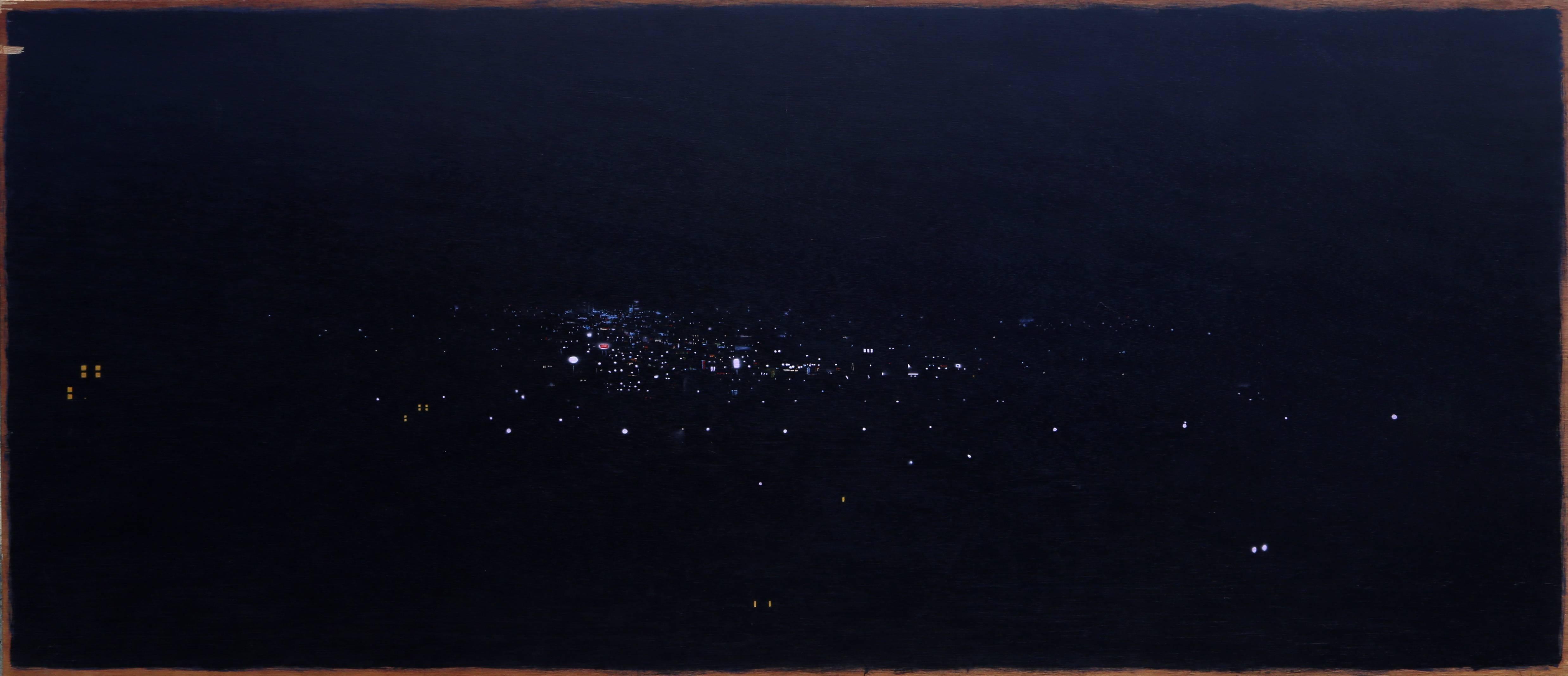 "John Bowman, ""Babylon,"" Acrylic on Wooden Panel, 1989"