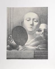"""George Tooker, """"Vanity Mirror,"""" Lithograph on Arches, 1978"""