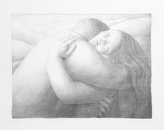 """George Tooker, """"Embrace,"""" Lithograph, 1982"""
