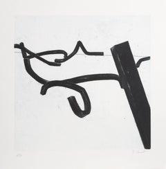 """Bernar Venet, 1 from """"Combinaison Aleatoire de Lignes Indeterminees,"""" 1996"""