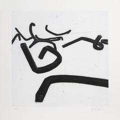"""Bernar Venet, 3 from """"Combinaison Aleatoire de Lignes Indeterminees,"""" 1996"""