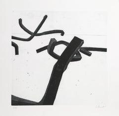 """Bernar Venet, 4 from """"Combinaison Aleatoire de Lignes Indeterminees,"""" 1996"""