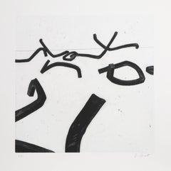 """Bernar Venet, 6 from """"Combinaison Aleatoire de Lignes  Indeterminees,"""" 1996"""