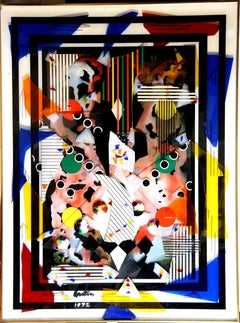 "Max Epstein, ""Collage III,"" Color Plexiglass Collage, 1972"