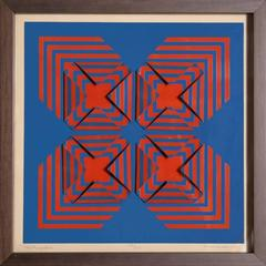 """Anne Youkeles, """"New Perspective,"""" 3D Serigraph Collage, 1971"""
