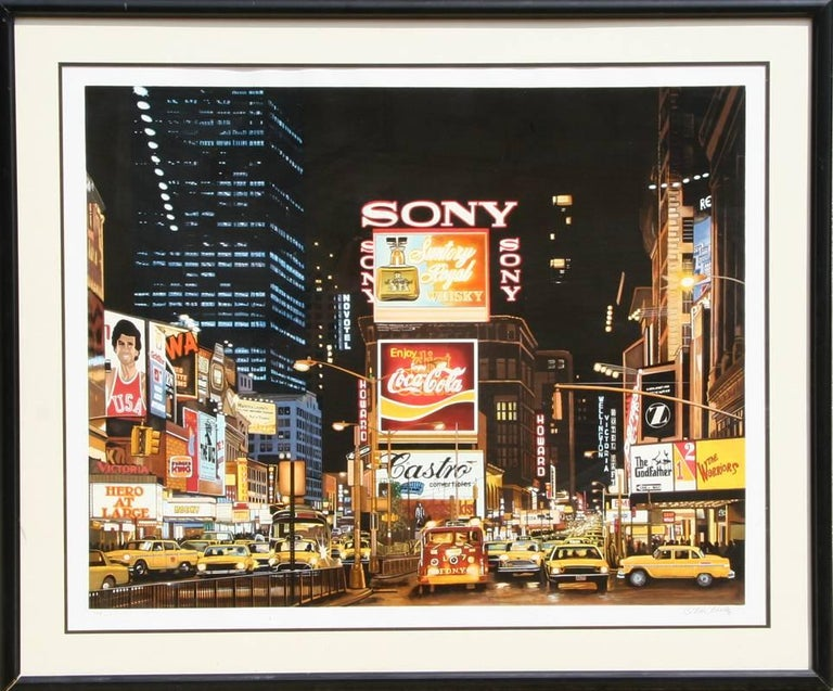 "Ken Keeley, ""Time Square Night (Eternity),"" Serigraph, circa 1995"
