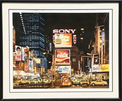 "Ken Keeley, ""Time Square Night (Eternity),"" Serigraph, circa 1995"