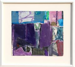 """Gary Komarin, """"Collage Series XII,"""" Acrylic and Collage on Paper, 1979"""