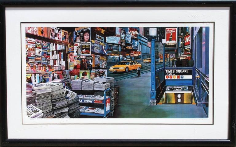 "Ken Keeley, ""Times Square Station,"" Serigraph, circa 1990"