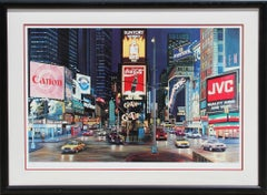 "Ken Keeley, ""Times Square Night (Guys and Dolls),"" Serigraph, circa 1990"