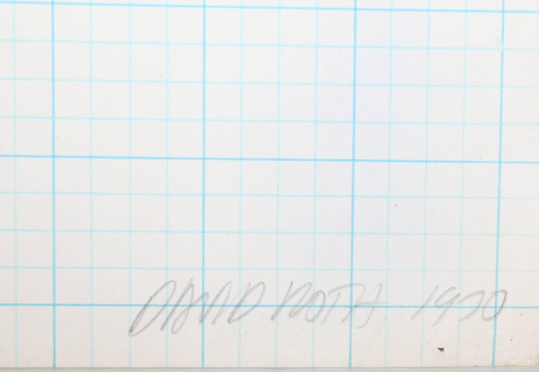 David Roth, Abstract Painting on Graph Paper, 1970 For Sale 1