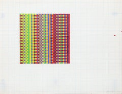 David Roth, Abstract Painting on Graph Paper, 1970