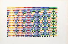 David Roth, Abstract Painting on Graph Paper, 1971