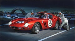 "Jack Leynnwood, ""Ferrari Berlinetta 563,"" Gouache Illustration, circa 1964"