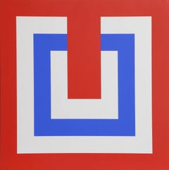 Composition in Red and Blue II