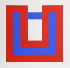 Composition in Red and Blue I