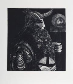 "Sylvia Roth, ""The Emperor,"" Etching with Aquatint, circa 1980"
