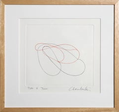 Abstract Drypoint Etching, circa 1980